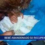 Bebé abandonado se recupera