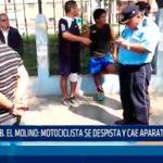Urbanización El Molino: Motociclista se despista y cae aparatosamente