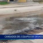 Piura: Moradores cansados del colapso de desagües