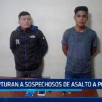 Capturan a sospechosos de asalto a pollería