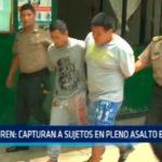 Avenida Eguren: Capturan a sujetos en pleno asalto en hostal