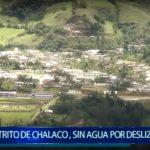 Piura: Distrito de Chalaco, sin agua por deslizamientos