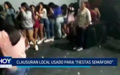 "Clausuran local usado para ""Fiestas semáforo"""