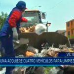 Comuna adquiere cuatro vehículos para limpieza pública