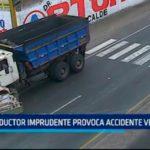 Conductor imprudente provoca accidente vehicular