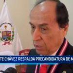 Dante Chávez respalda precandidatura de Marcelo