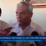 Elidio Espinoza defiende gestión por informes de OCI