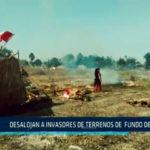 Chimbote: Desalojan a invasores de terrenos de  fundo de UNS
