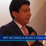 MPT no cancela deuda a Sedalib