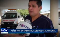 Así se vive en emergencia del Hospital Regional