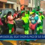Empleados del SEGAT exigen el pago de sueldos