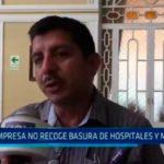Empresa no recoge basura de hospitales y mercados