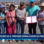 Cien vecinos de El Porvenir formalizaron sus predios