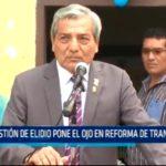Gestión de Elidio Espinoza pone el ojo en el sector Transporte