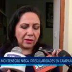 Gloria Montenegro niega irregularidades en campaña de Acuña