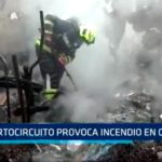 Cortocircuito provoca incendio en casona