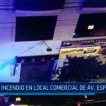 Incendio en local comercial de Avenida España