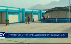 Escolares de sector Túpac Amaru cuentan con nuevo local