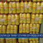 "Chiclayo: Incautan lejía ""Bamba"" lista para ser vendida en Moshoqueque"
