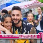 Abuelita 'enamora' a Maluma en su último concierto