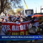 Piura: Miraflorinos realizan marcha pacífica