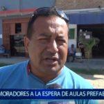 Piura: Moradores continúan esperando aulas prefabricadas
