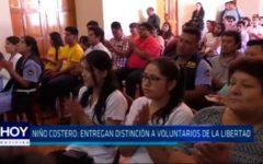 Niño Costero: Entregan distinción a voluntarios de La Libertad