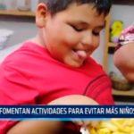 Fomentan actividades para evitar más niños obesos