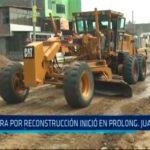 Obra por reconstrucción inició en Prolongación Juan Pablo II