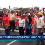 Sutep y Suter divididos por el paro del 5 de abril