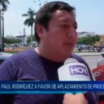 APRA: Paúl Rodríguez a favor de aplazamiento de proceso interno