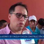 Pobladores de Chugay exigen reconstrucción de colegio
