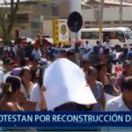 Piura: Protesta por la Reconstrucción de Castilla