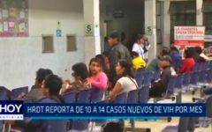 Trujillo: Reportan de 10 a 14 casos nuevos de VIH por mes