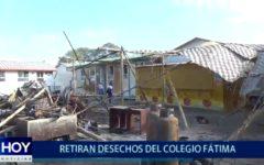 Piura: Retiran desechos de I.E Nuestra Señora de Fátima