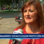 Trabajadores sociales exigen protección del estado