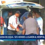 Tragedia en Usquil: Seis heridos llegaron al Hospital Regional