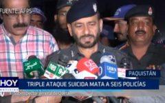 Paquistán: Triple ataque suicida a seis policías