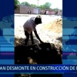 Piura: Usan desmonte en construcción de módulos para damnificados