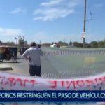 Piura: Vecinos restringen el paso a vehículos pesados