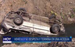 Chiclayo: Vehículo se despista y termina en una acequia