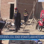 Chiclayo : Intervienen local donde desmantelaban mototaxis robadas