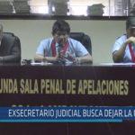 Chiclayo : Ex secretario judicial busca dejar la cárcel