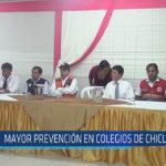 Chiclayo : Mayor prevención en colegios de Chiclayo