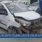 Chiclayo : Delincuentes escapan luego de chocar auto robado