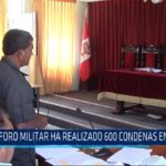 Chiclayo. Foro Militar ha realizado 600 condenas en el norte