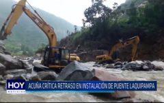 Chiclayo. Acuña critica retraso en instalación de puente en Laquipampa