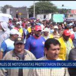 Chiclayo: Miles de mototaxistas protestaron en calles de Chiclayo