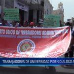 Chiclayo: Trabajadores de universidad piden dialogo al rector