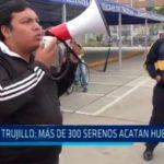 Más de 300 serenos acatan huelga